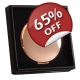 Rose Gold Compact Mirror - Grade B