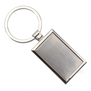 Keyring - Silver Rectangle