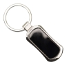 Keyring - Slim Rectangle - Black