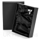 Gift Box and Funnel in Black Satin