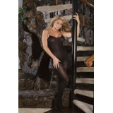 Black opaque bodystocking - Elegant Mo..