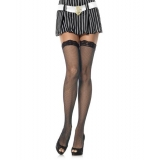 Fishnet Hold Up Stockings Lace Top Leg..