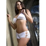 Bra and Boyshorts Set White - L222