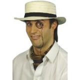St Trinians Straw Boater Hat