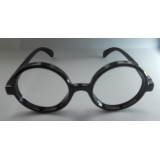 Round geek glasses without lens