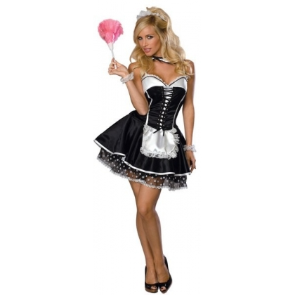 Sexy French Maid Rubies Fancy Dress Costume
