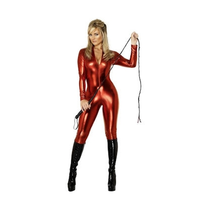 Red Wet Look Catsuit Fever Miss-Tress - Fever