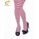 Ladies Red and White striped tights