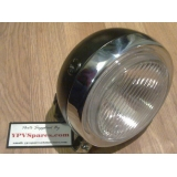 Puch MAXI Round Front Head Light Black..