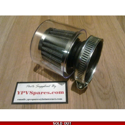 Power Filter for Dellorto SHA Carb with Plastic Cover.