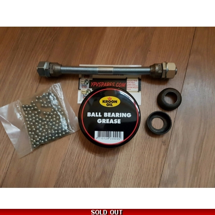 Puch MAXI Complete Front Wheel Axle Set