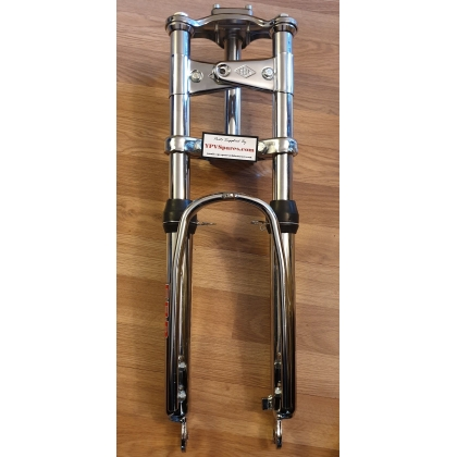 Puch Maxi EBR Front Forks in Chrome with Extra Strong Stabiliser