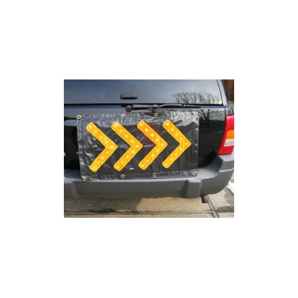 Roll Up Arrow LED Board Chevron Stripe Black TA4685