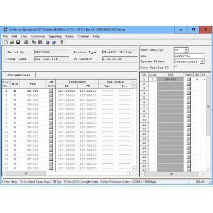 Vertex CE-115 Programming Software
