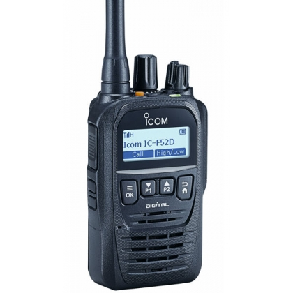 Icom F52D  2 Way Radio Pager - 5W, 512C, IP67, Digital VHF