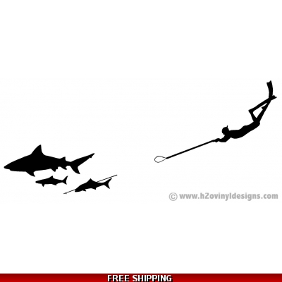 Freediver / Bull Shark / Cobia - SHOT - Vinyl Sticker