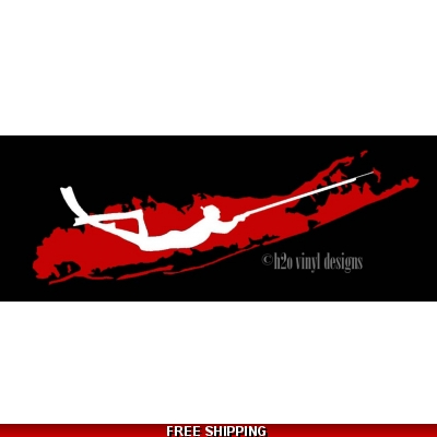 Long Island Spearfishing Freediver Layered - Vinyl Sticker