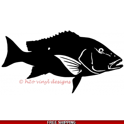 Mutton Snapper - Vinyl Sticker