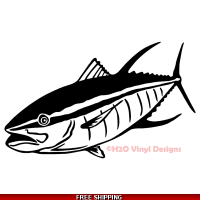 Yellow Fin Tuna - Vinyl Sticker
