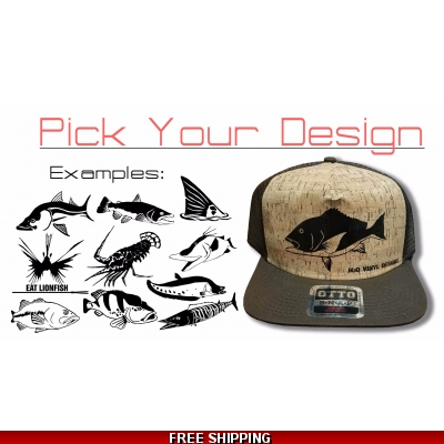 Cork/Brown Flat Bill Hat - Any Design
