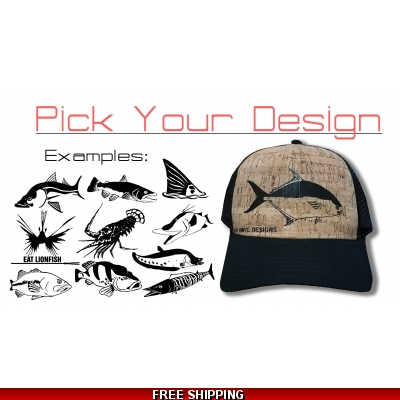 Cork/Black Curved Bill Hat - Any Design