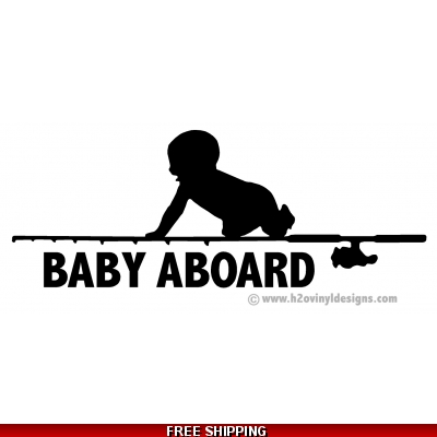 Baby Aboard - Fishing - Vinyl Sticker