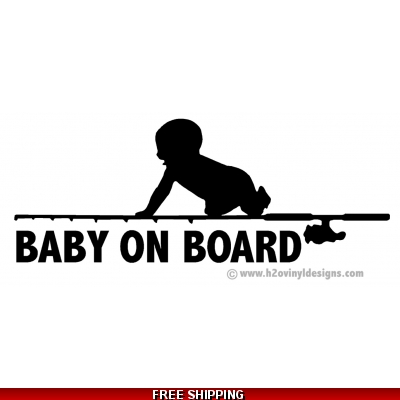 Baby On Board - Fishing - Vinyl Sticker