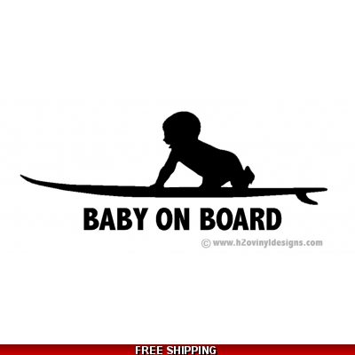 Baby On Board - Surf - Vinyl Sticker