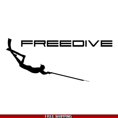 Spearfishing Freediver - Vinyl Sticker