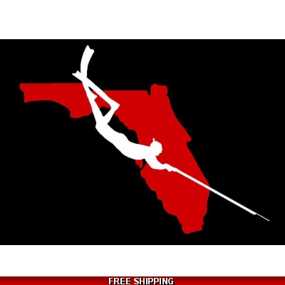 Florida Spearfishing Freediver Layered - Vinyl Sticker