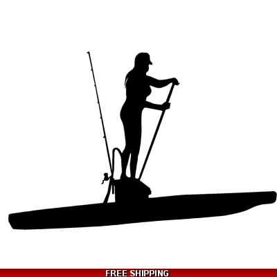 SUP stand-up paddleboard Fishing Female - Vinyl Sticker
