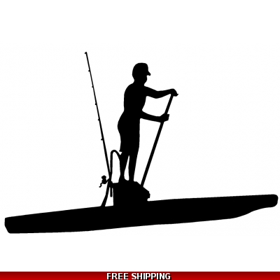 SUP stand-up paddleboard Fishing Male - Vinyl Sticker