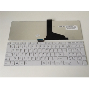 Toshiba Satellite L850 Uk Replacement Laptop Keyboard White With Frame