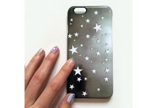 White monochrome stars phone case