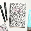Regina monogram lined notebook - Pink initials