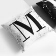 Marble alphabet cushion..