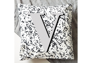Regina alphabet cushion cover - grey lettering