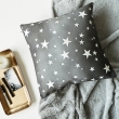 Star print cushion cover