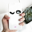 Keep an eye on you fluttery lashes monogram phone case