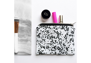 Speckle print mini make up bag