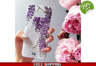 Wisteria monogram phone case