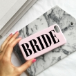 Dusty Pink Bridal Wedding day phone case