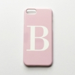 Soft pink and white alphabet phone case