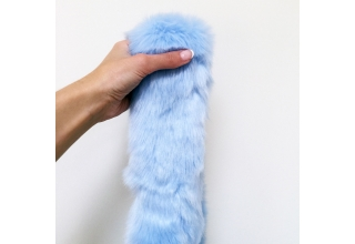 Pastel Blue faux fur long line scarf