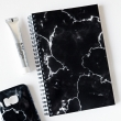 Black marble notebook