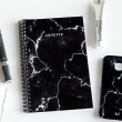 Black marble monogram notebook