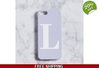 Pastel Purple and white monogram alphabet phone case