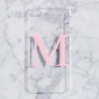 Clear and dusty pink alphabet phone case