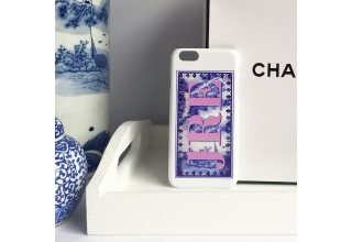 Blue & White porcelain frame print monogram phone case
