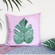 Tropical leaf cushion c..